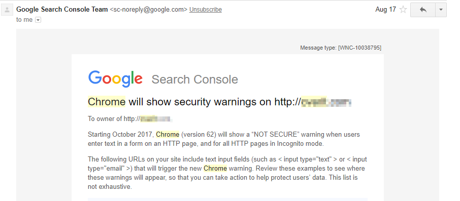 Chrome Warning about HTTP Security