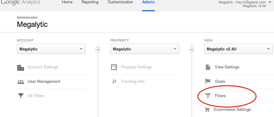 creating google analytics filter for IP address