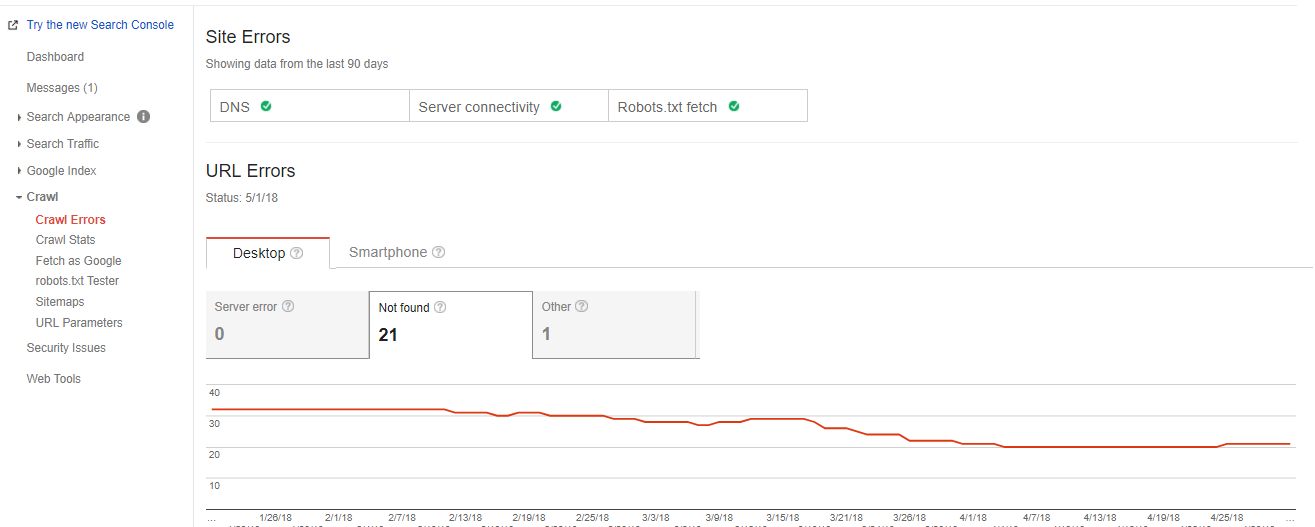 Google Search Console 404 Reporting