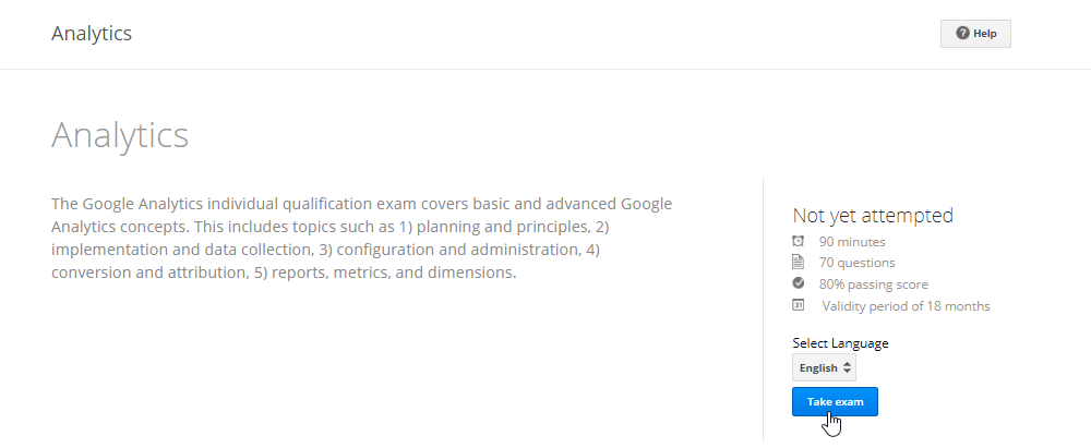 Taking the Google Analytics Certification Exam