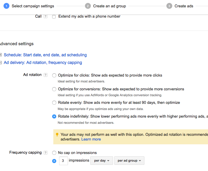 Configuring Ad Delivery
