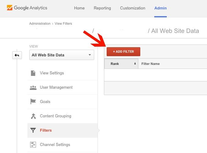 Adding a Filter in Google Analytics