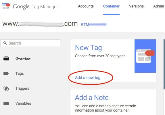 Google Tag Manager - Add New Tag