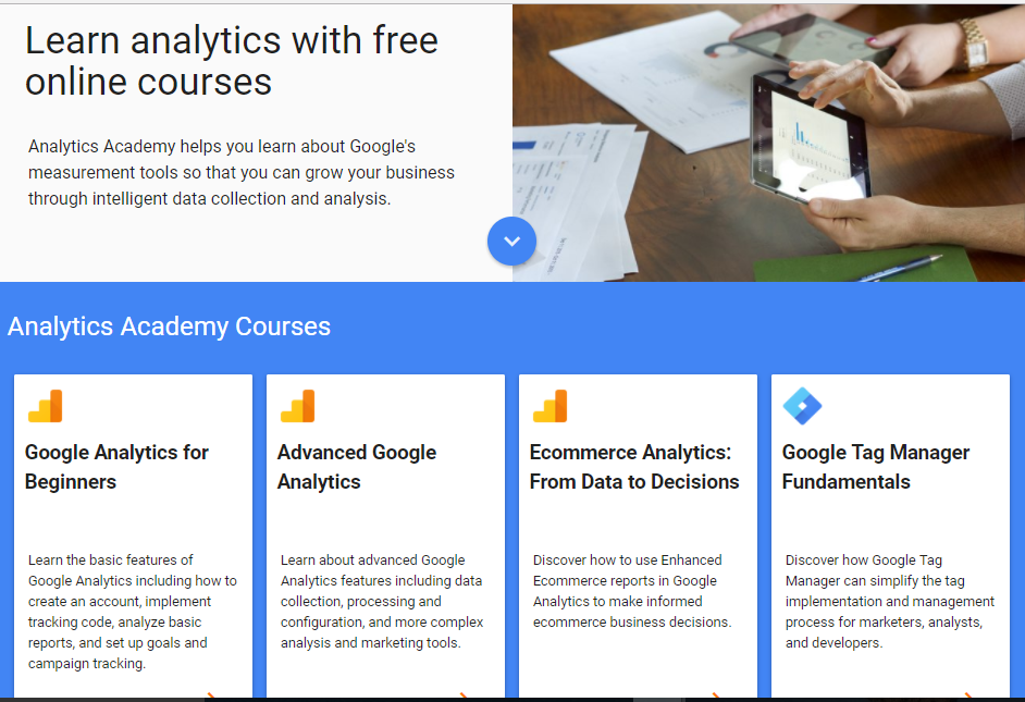Google Analytics Academy Courses