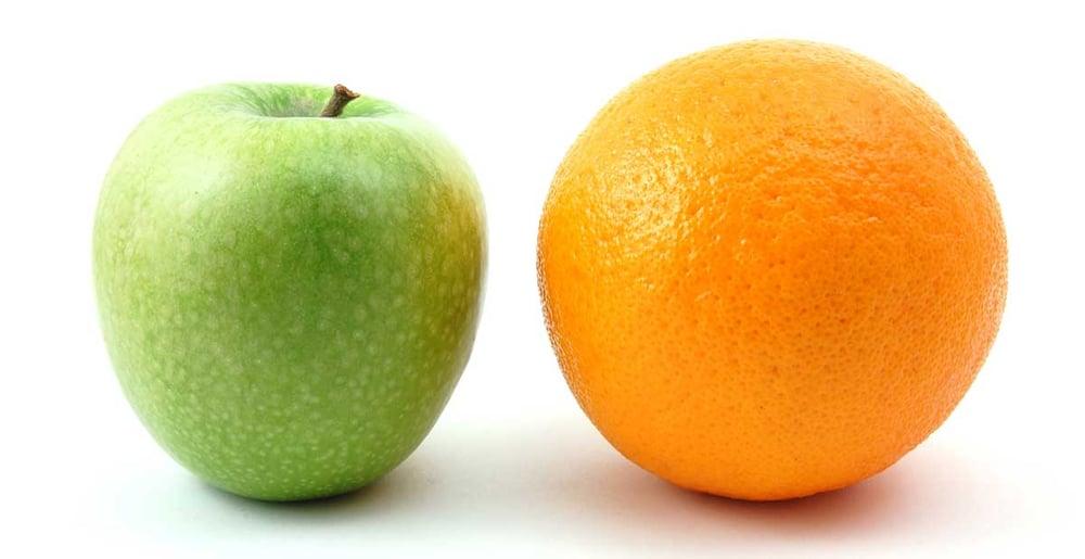 Analytics AdWords Apples vs Oranages