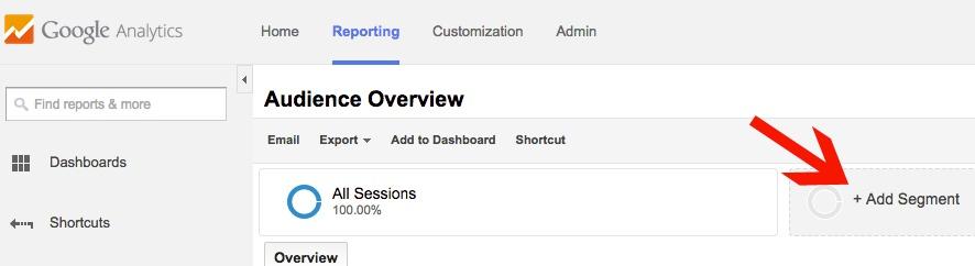 Google Analytics Apply Segment