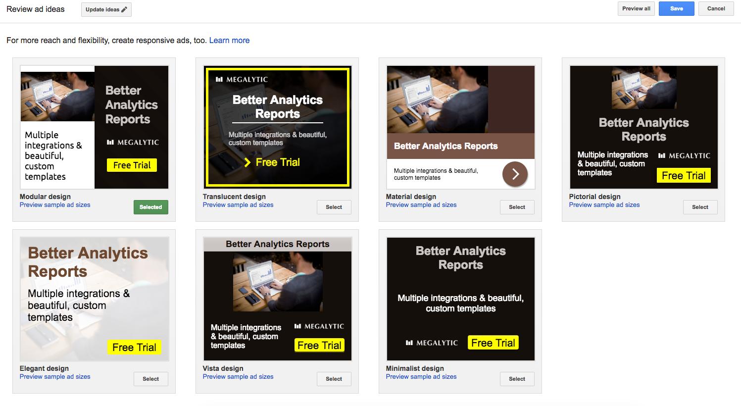 Automatic Image Ads