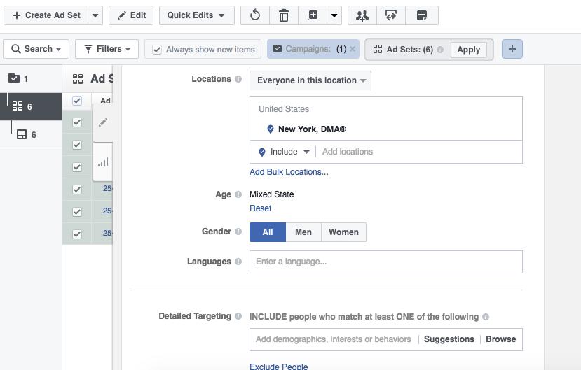 Facebook Power Editor Bulk Edit
