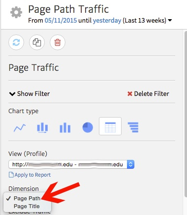 Changing Page Path to URL in Megalytic