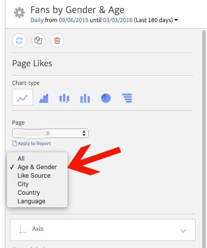 Choosing a Facebook Dimension in Megalytic (Gender, Country, etc)