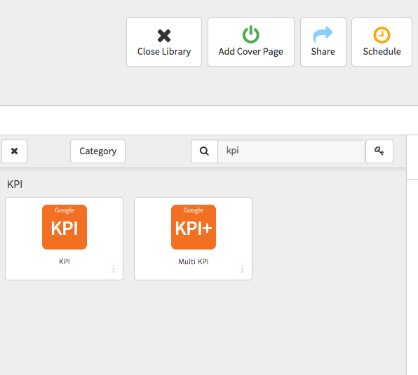 Megalytic Selecting KPI Widgets