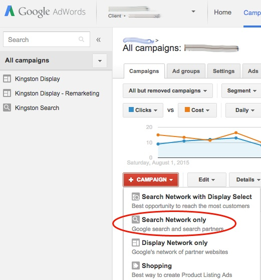 AdWords Choose Search Campaign