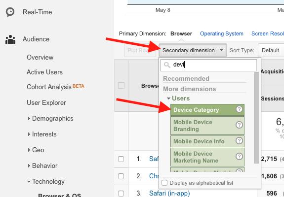 Google Analytics Secondary Dimensions