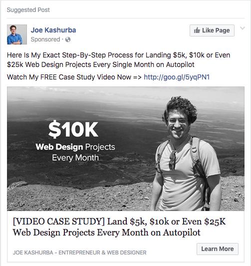 Facebook Ad Clicks to Website Single Image