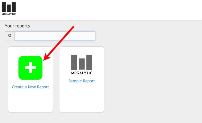 Create a New Report in Megalytic