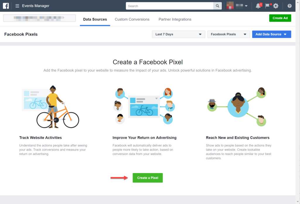 Create A Pixel using Facebook Business Manager