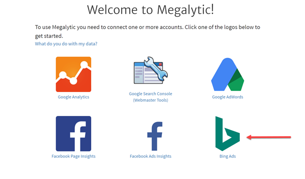 Create Megalytic Account with Bing Ads