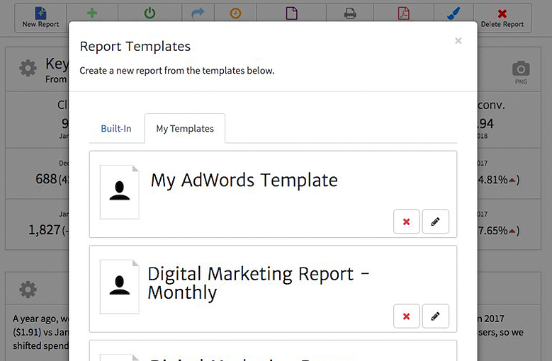 Create a Report from a Megalytic Template