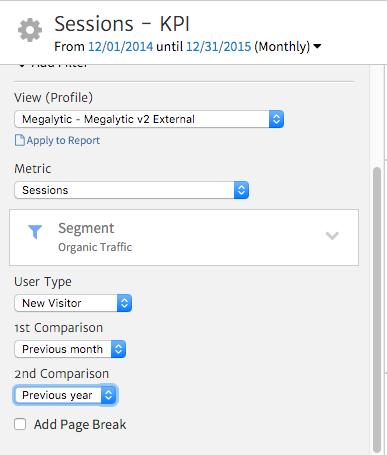 Customizing Megalytic's KPI Widget