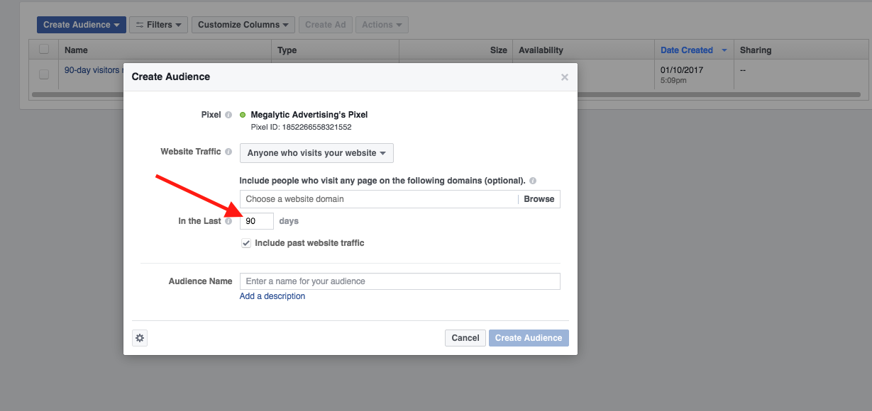 Define the Length of the Retargeting Window