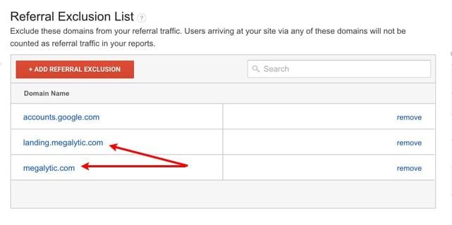 Excluding Referrers in Google Analytics
