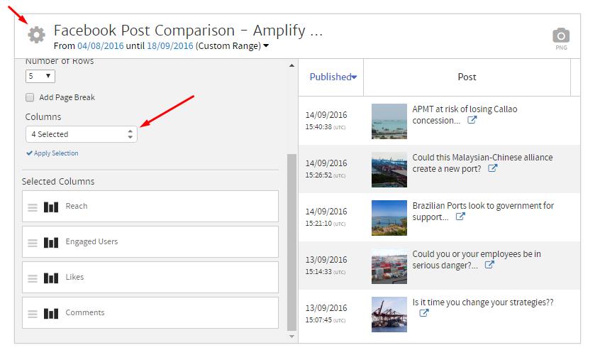 Editing the Facebook Posts Widget in Megalytic