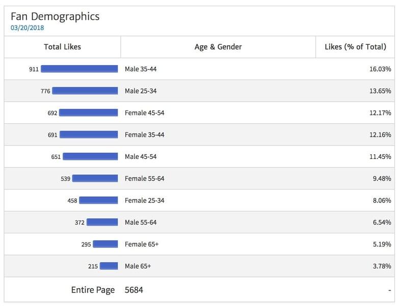 Facebook Page Fan Demographics