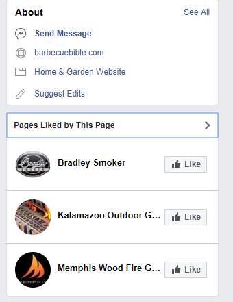 Facebook Interests - Pages Liked by This Page