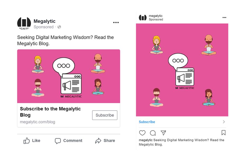 Facebook vs Instagram Images