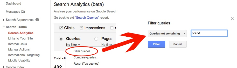 Filtering Brand Searches