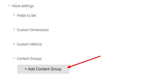 Google Tag Manager - Selecting GA Content Groups