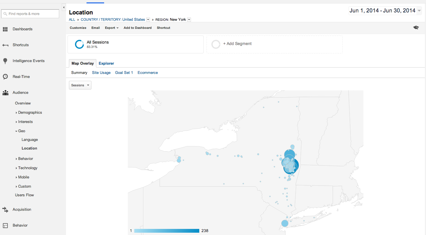 geography in google analytics
