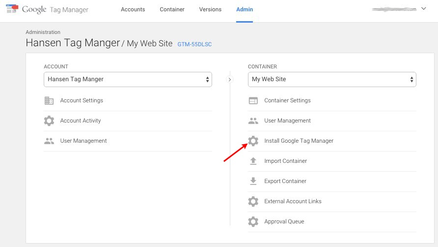 Get Your Google Tag Manager Code Snippet