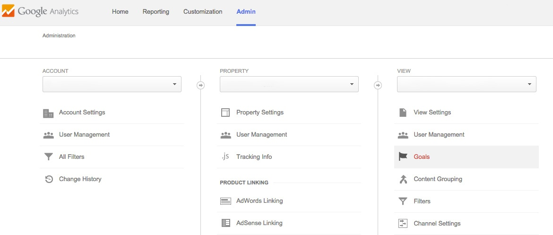 viewing goal setup in google analytics