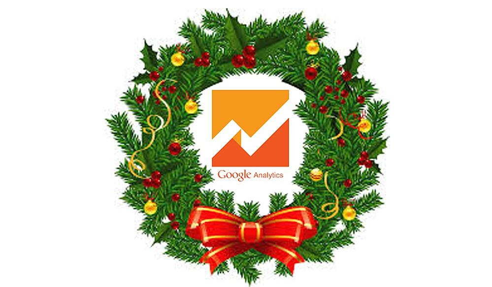google analytics holiday wreath