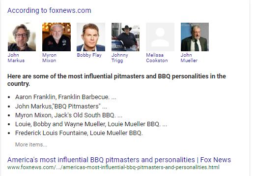 Google SERPS BBQ People