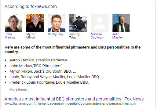Google SERPS BBQ People
