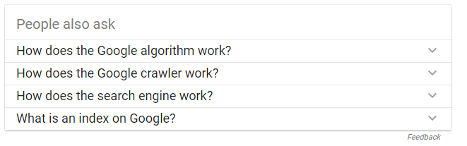 People Ask in SERPS