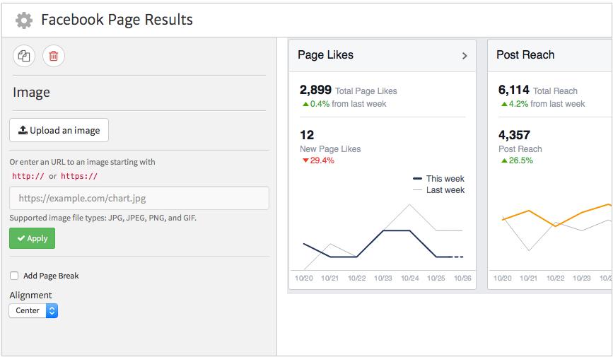 Megalytic Image Widget Showing Facebook Data