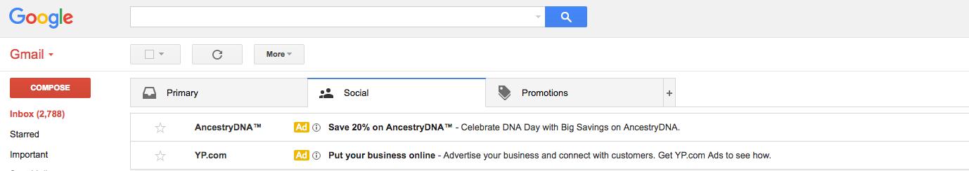 Gmail Inbox Ads