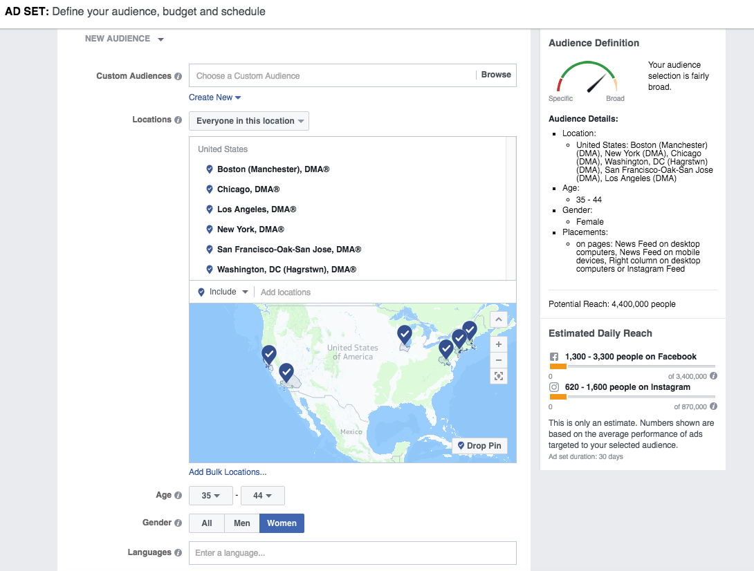 Facebook Ads - Selecting and Audience