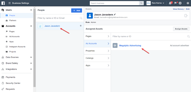 Adding a User to a Facebook Advertising Account