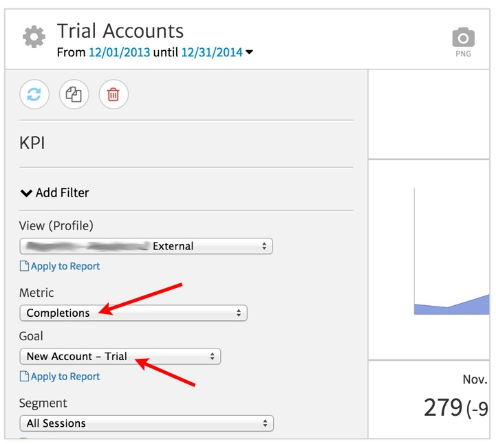 KPI Tracking New Trial Accounts - Setup