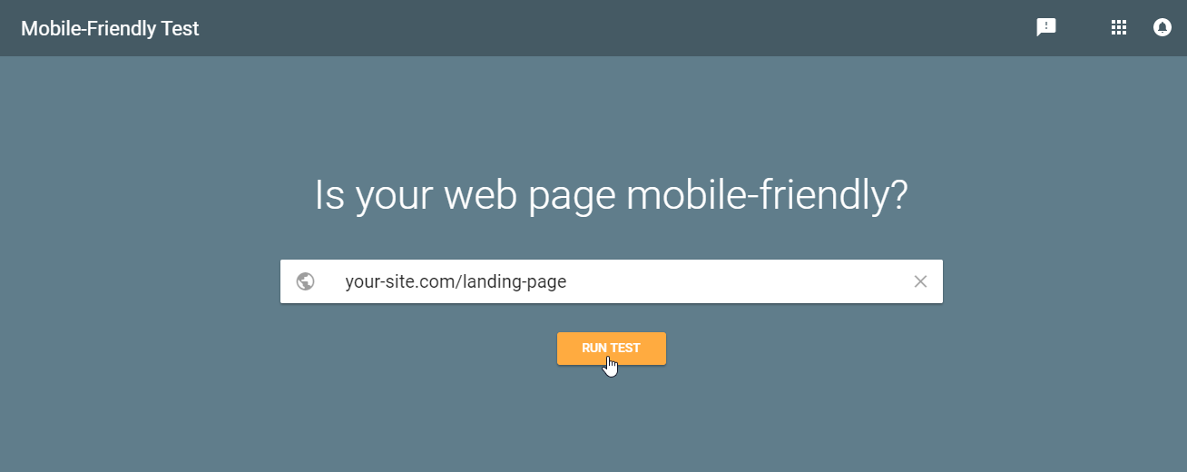 Mobile Friendly Landing Page