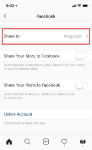 Link Instagram with a Facebook Page