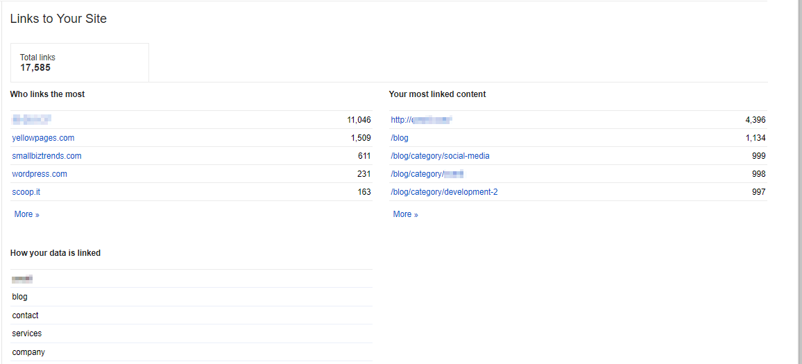 Links to Your Site - from Google Search Console