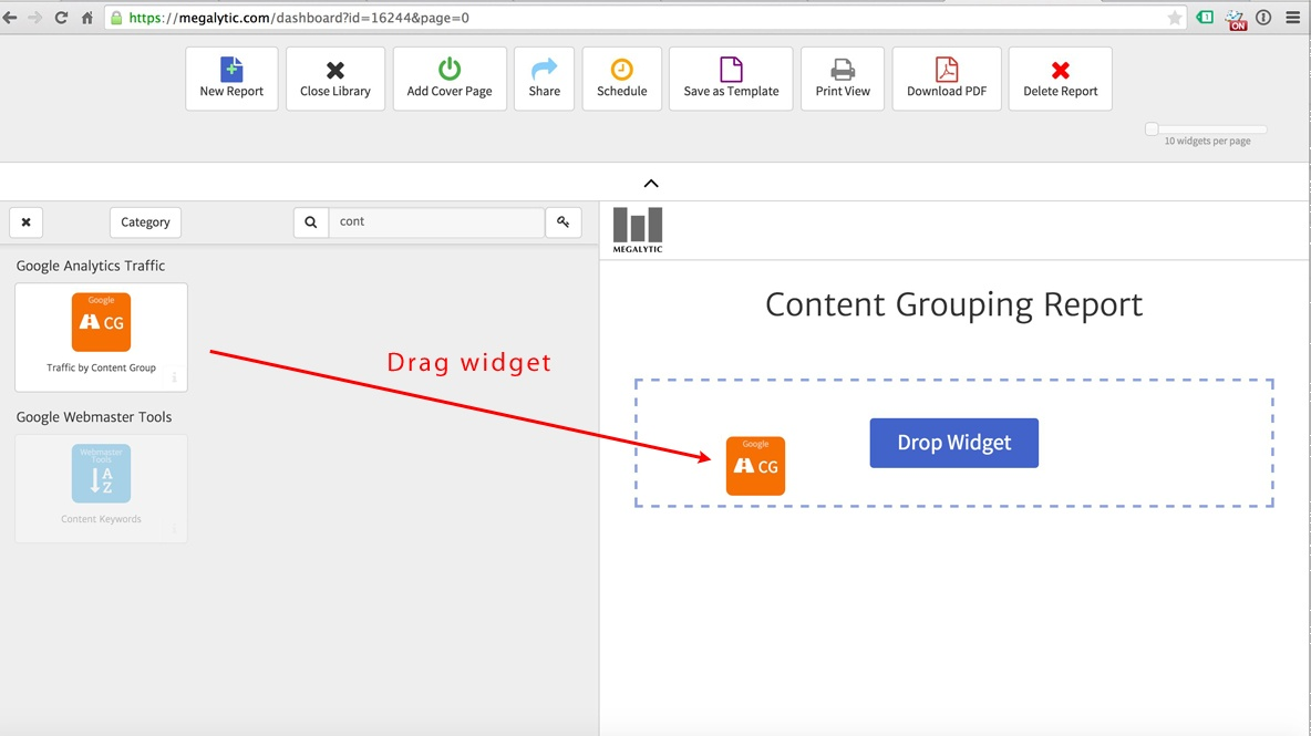 Megalytic Content Grouping Widget