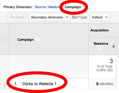 Viewing your Facebook campaign name in Google Analytics