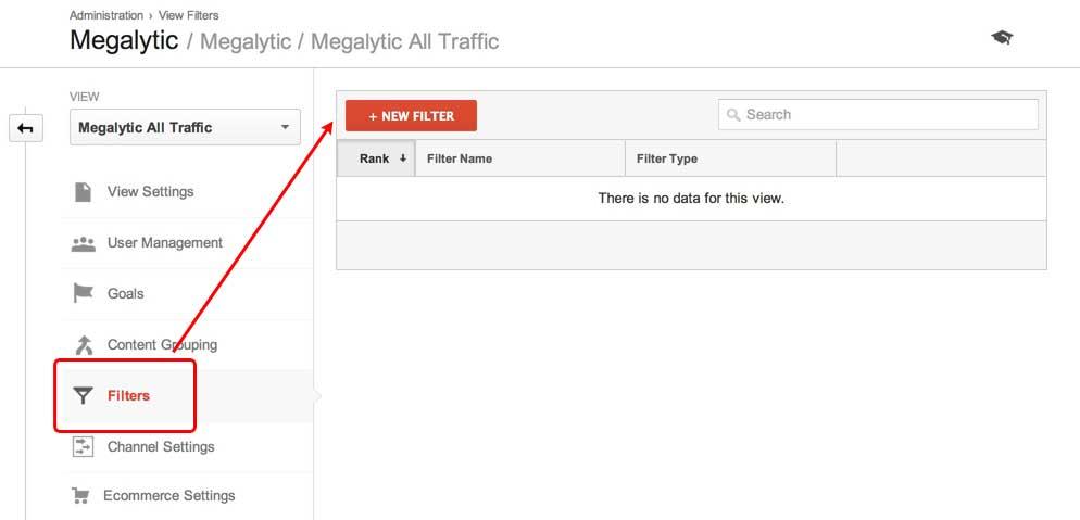 Create a Google Analytics Filter