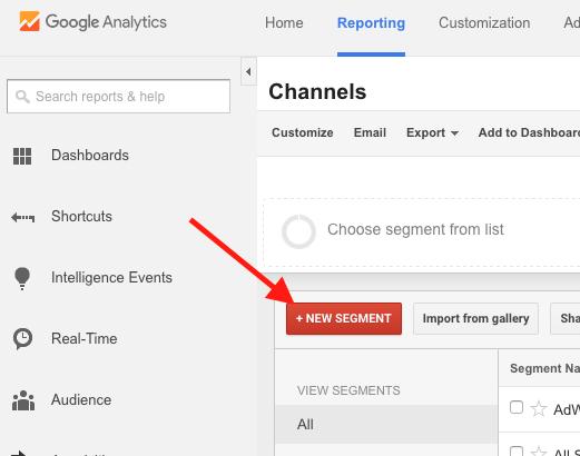 Creating a New Segment in Google Analytics